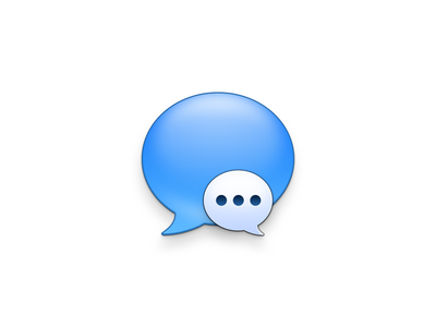 Messages bubble message glass frosted vector design buron blue app skeu icon ui