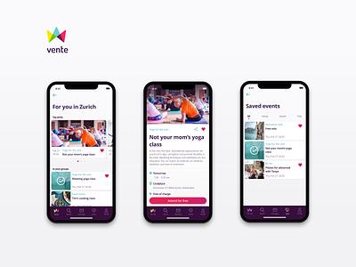 vente app design ui