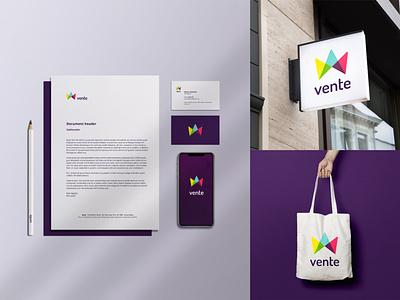 vente branding ui vector branding design