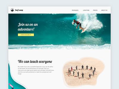 Landing page - Daily UI 003 website concept website dailyui 003 dailyui landing page design