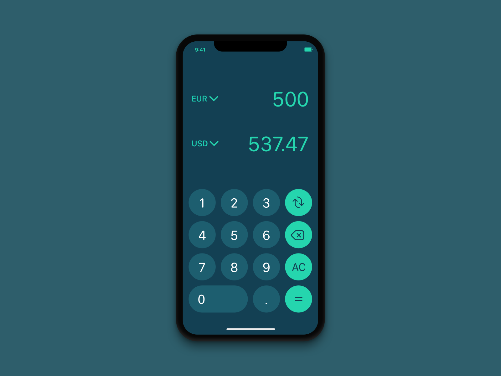 Currency converter - Daily UI 004