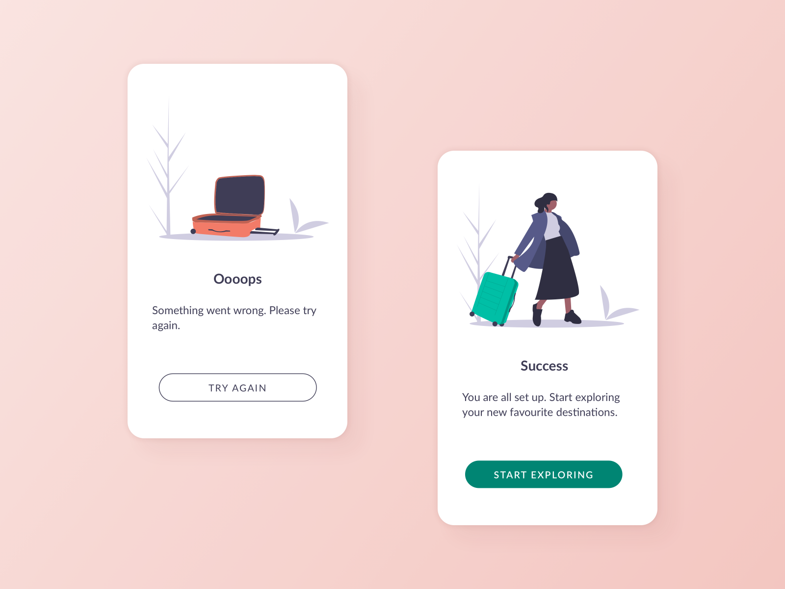 Sign up (error and success) - Daily UI 011