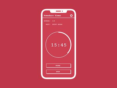Pomodoro timer - Daily UI 014 concept design app dailyui 014 dailyui