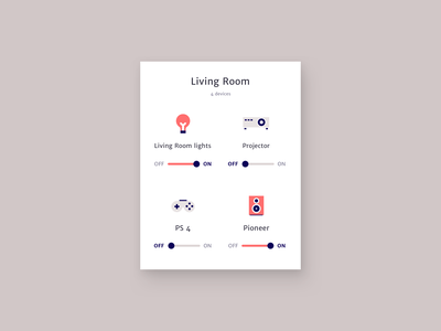 On/Off switches - Daily UI 015 dailyui 015 app concept dailyui