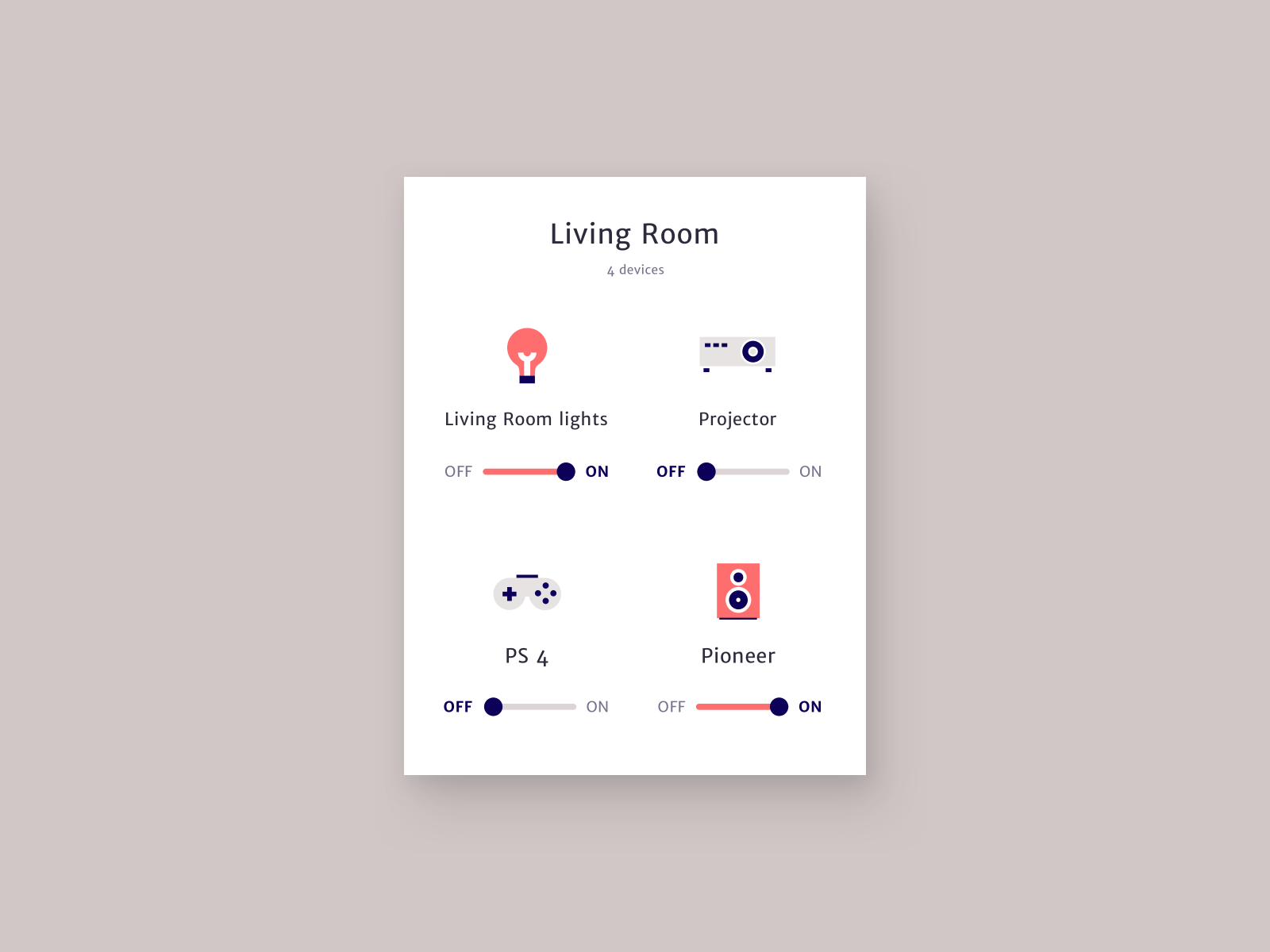 On/Off switches - Daily UI 015
