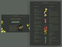 Daily UI: Food & Drink Menu restaurant food and drink daily ui challenge website design website uxdesign ux design ux uiux web design webdesign dailyuichallenge uidesign web design ui ui design daily ui dailyui