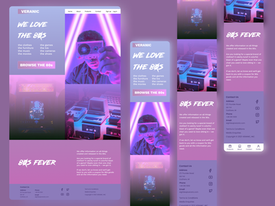 Responsive Landing Page – 80s Fever mobile ui design ui webdesign website design responsive responsive design uiux uidesign web design