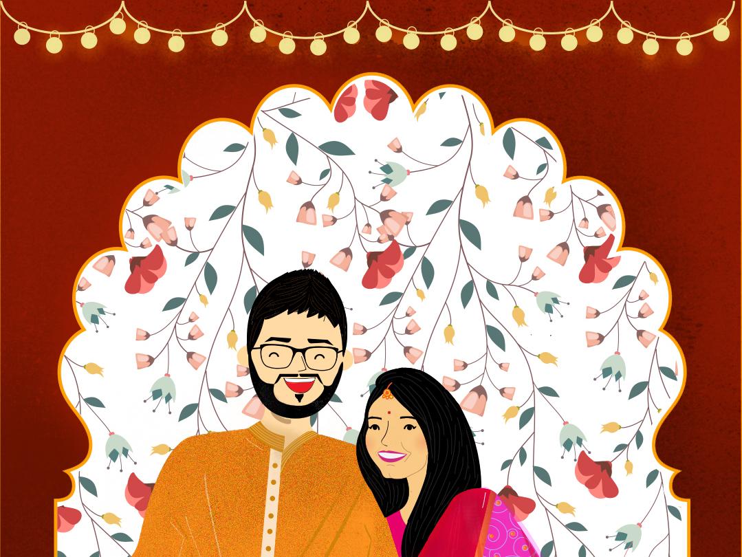 Wedding invite graphicdesign design vector illustration flat