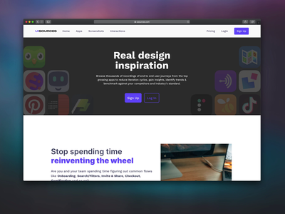 💥 Introducing, the new UI Sources repository pttrns webflow web design microinteractions design inspiration ui sources uisources