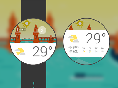 Android Wear's weather card android wear wearable smart watch smartwatch cards
