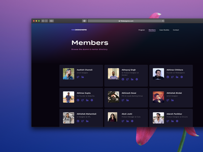 10kdesigners Member Directory cbc cohort based courses directory alumni