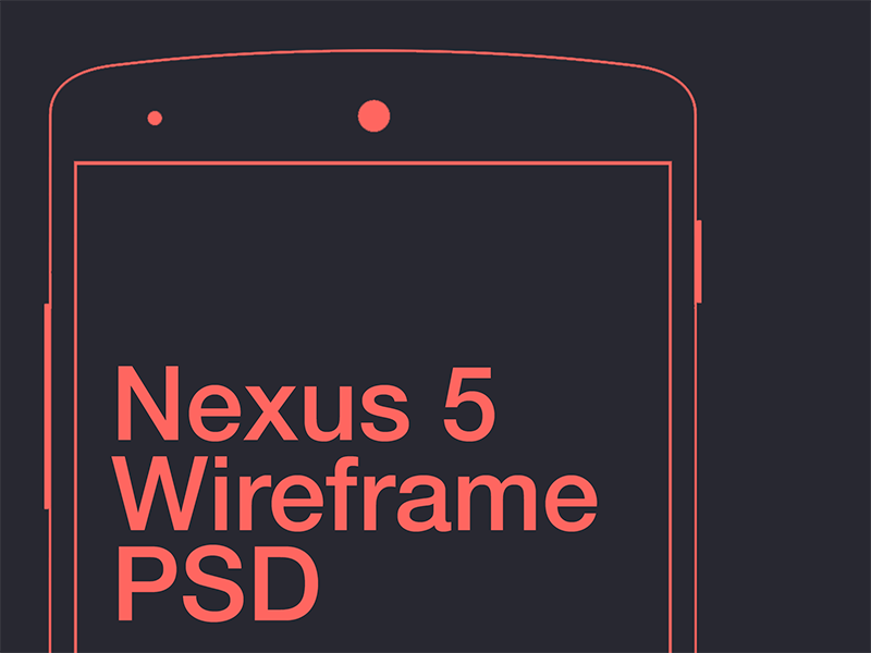 Nexus 5 Wireframe PSD nexus android wireframe psd psddd freebie