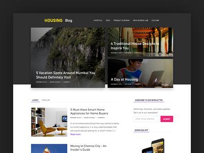 Blog design blog design ui web