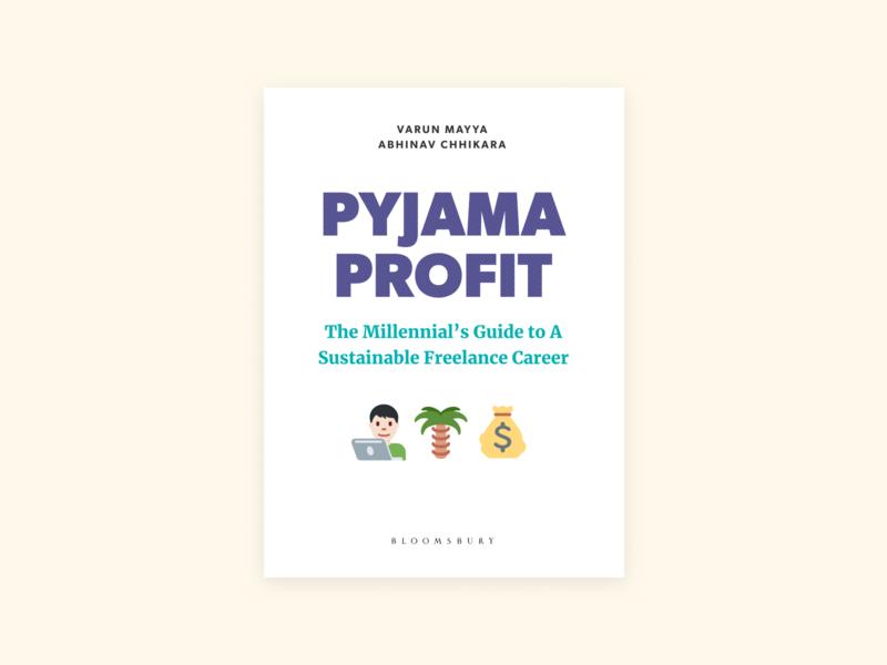 Pyjama Profit cover bookcover typography design book cover book