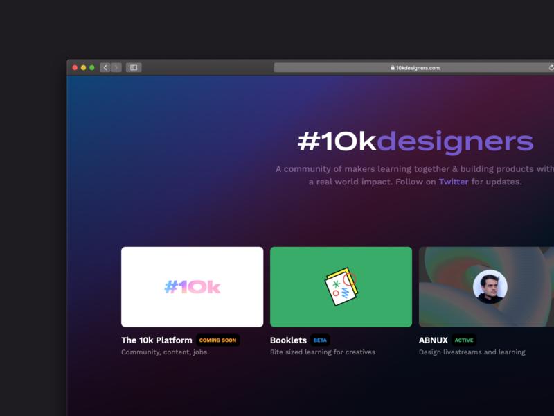 Introducing, 10k. ui design uiux abnux 10kdesigners website design website web ui