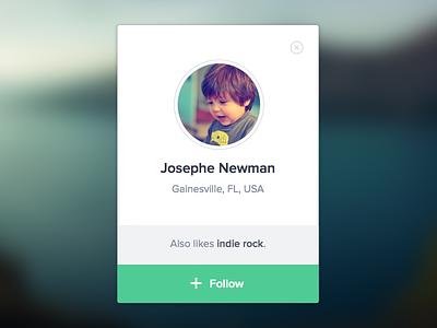 Simple User Profile profile user module lightbox social music tooltip grooveshark