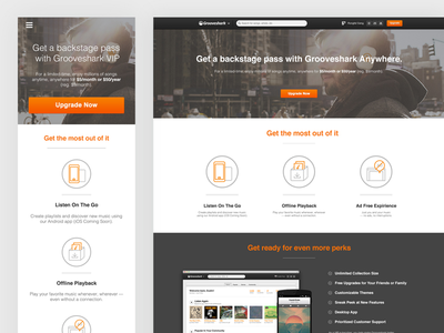 Grooveshark Anywhere Subscription Page