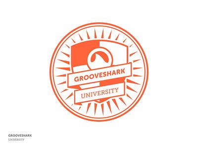 Grooveshark University Logo logo branding university grooveshark school education shield mark ribbon