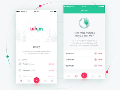 Whym - Seamless Instant Interpretation App welcome travel translate topup paris minutes london language ios interpretation help call