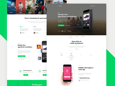 Netguru Redesign - Mobile Development cta web team services product landing page home android ios iphone contact agency