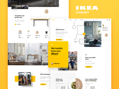 IKEA Online Concept - Homepage item catalogue chat shop redesign product landing interior ikea furniture e-commerce bot