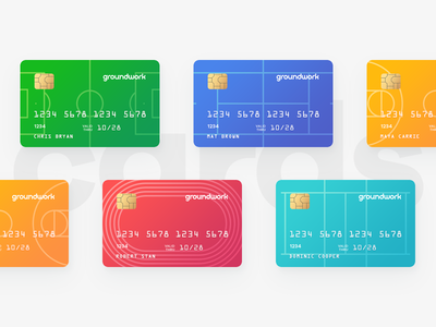 Groundwork - Credit Cards pattern transfer money bank payment debit chip mastercard visa pitch field sport