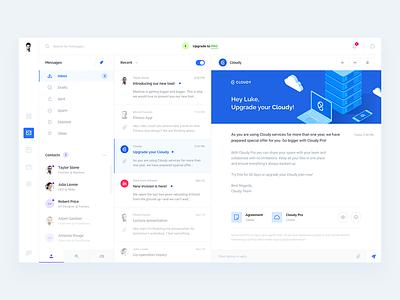 Inbox Client conversation app email interface web cloud desktop message inbox