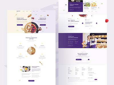 Zeelandia - Homepage pie violet product onepage website web ui homepage landing ingredient bakery zeelandia