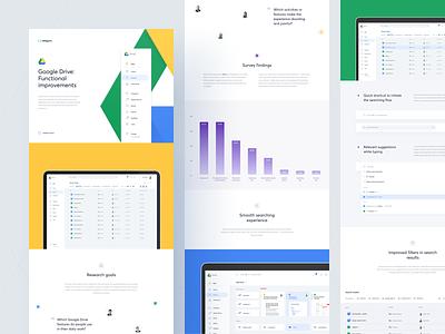 Google Drive - Case Study medium article ux ui web graph cards slides presentation redesign google application