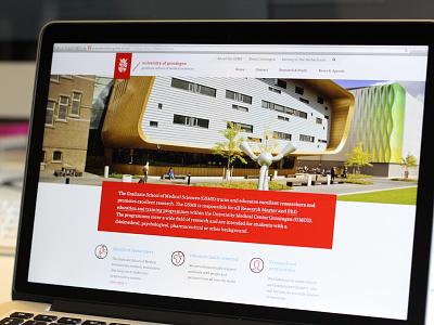 Graduate School RUG university website school globe map iwink