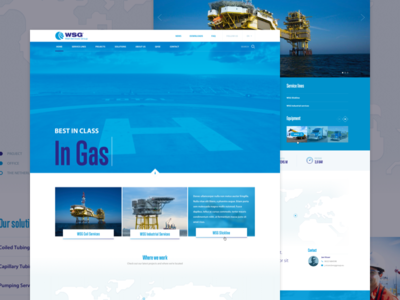 Well Services Group webdesign map world offshore site design web
