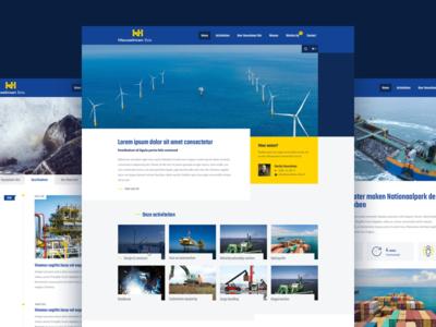 Heuvelman Ibis website webdesign site responsive offshore website