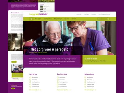 Zorggroep Meander map health webdesign website healthcare
