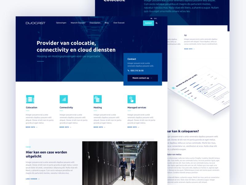 Duocast hosting isometric home homepage cloud hosting icons website webdesign