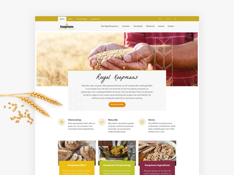 Corporate website Royal Koopmans repsonsive corporate ui webdesign website