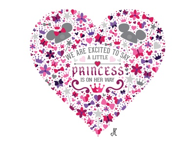 Some Exciting News... princess minnie mickey disney heart baby