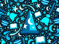 The Sorcerer's Apprentice - Monochromatic Blue