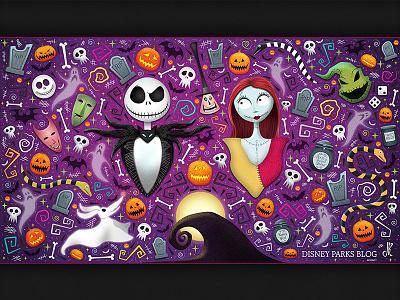 Nightmare Before Christmas Wallpaper Design nightmare before christmas halloween disney