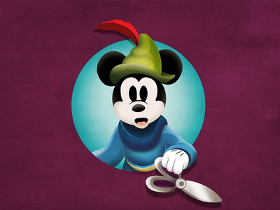 Quickie Mickey: Brave Little Tailor mickey mouse vector mickey disney