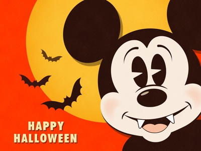 Happy Halloween! character design illustration illustrator vector mickeymouse mickey disney