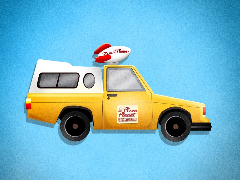 Pizza Planet Truck automobile auto automotive car pizza truck toystory toy pixar disney