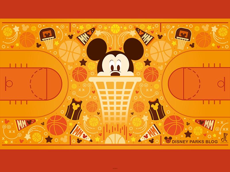 Mickey Basketball Wallpaper Design by
