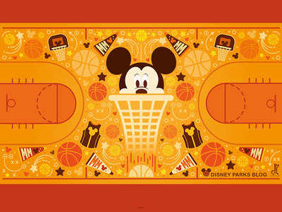 Mickey Basketball Wallpaper Design nba vector mickey basketball sports mickey mouse disney illustration