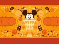 Mickey Basketball Wallpaper Design