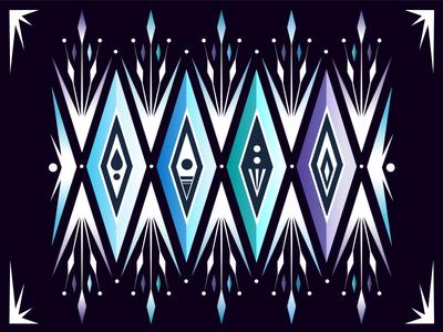Frozen 2 - The 4 Spirits illustration disneyart elsa snowflake pattern vector disney