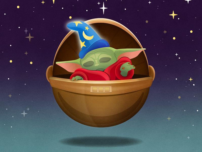 The Sorcerer Child baby yoda the mandalorian vector star wars the child babyyoda disney