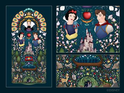 Snow White and the Seven Dwarfs photoshop epcot disney princess snow white princess vector illustrator illustration disney