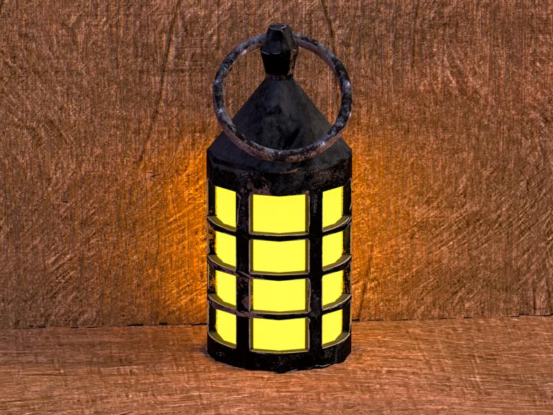 Old Oil Lamp 3D Model