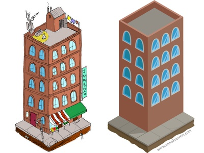 Test Building WIP Part 1 melbourne building vector illustrator isometric sketch wip