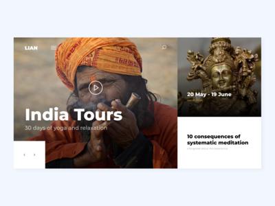 Yoga tour website
